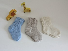 Hand_Knitted_Merino_wool newborn_socks